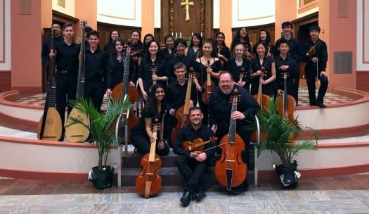 Phillip Serna co-directing Adlai E. Stevenson High School period-instrument Baroque ensemble & viol consorts at the Boston Early Music Festival
