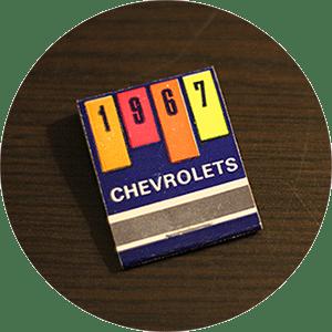 1967 Chevrolets Matchbook