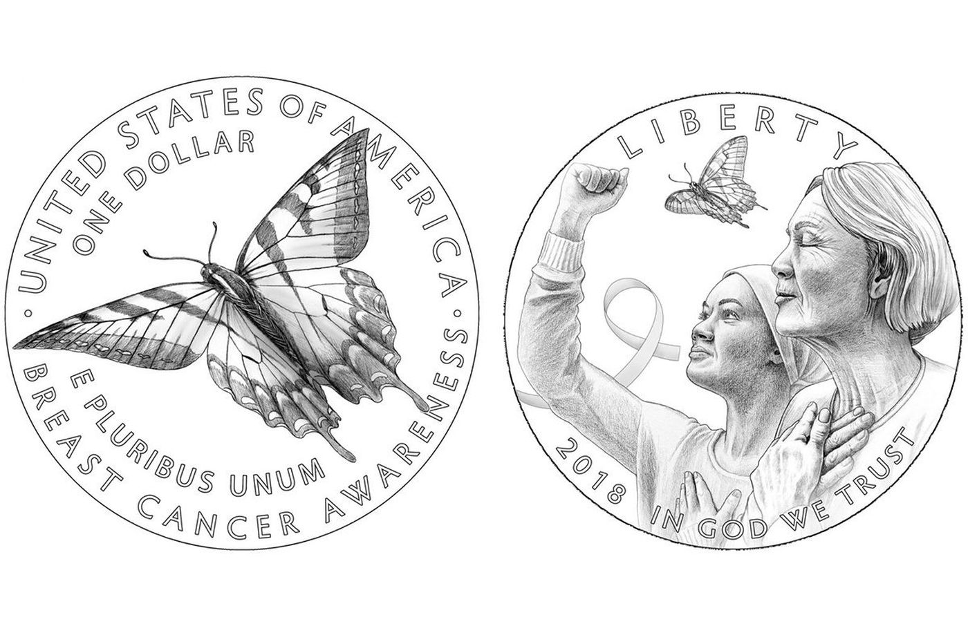 U S Mint Unveils A Pink Hued Gold Coin To Benefit Breast
