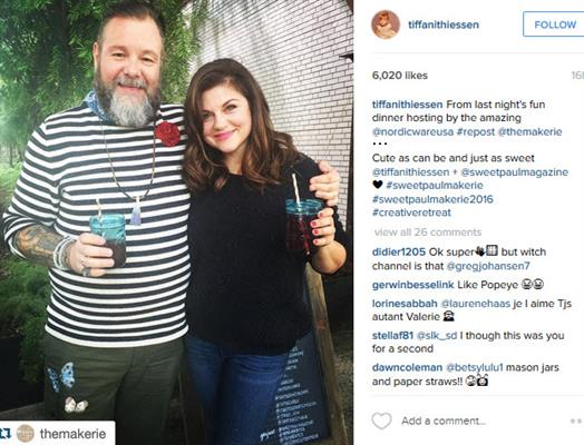 Paul Makerie and Tiffani Thiessen