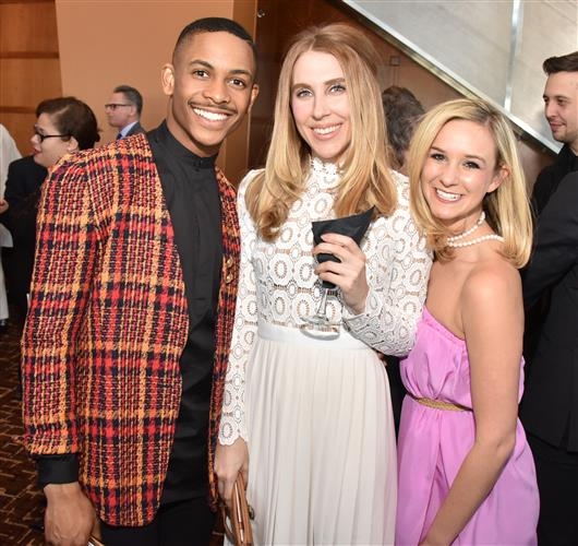 Roderick Phifer, a new dancer to Ballet X, Megan Dickenson, and Skylar Lubin