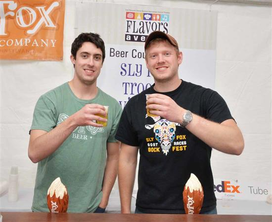 Peter Giannopoulos and Tim Goulet serve up some Sly Fox.