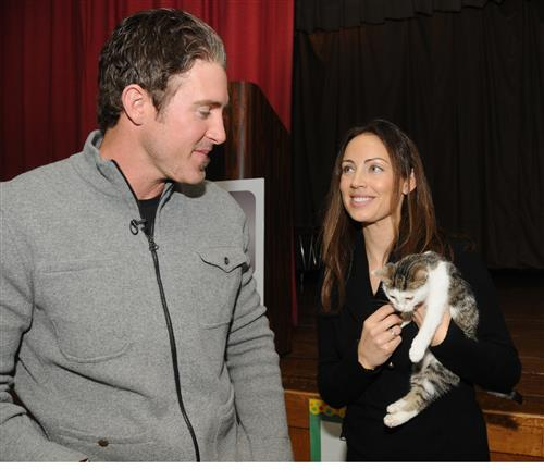 Philadelphia Phillies' All-Star Second Baseman, Chase Utley and wife Jennifer Utley team up with the City of Philadelphia Mural Arts