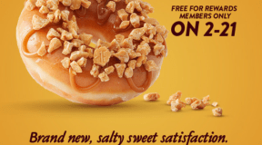 Free ~ Grab a FREE Hershey's Gold Doughnut (Krispy Kreme Rewards Members Only!)