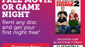 Redbox ~ Rent any Movie & Get First Night Free, ends Today!