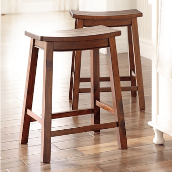 cameron set of two saddle stools at kohls