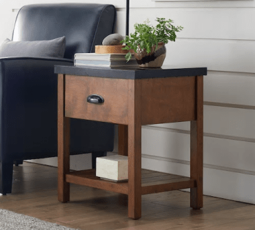 preston wood and metal end table at kohls