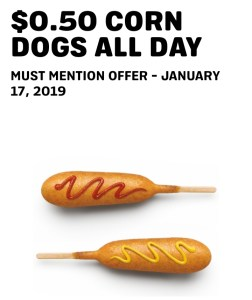 $0.50 Corn Dogs ALL DAY at Sonic - Philly Coupon Mom