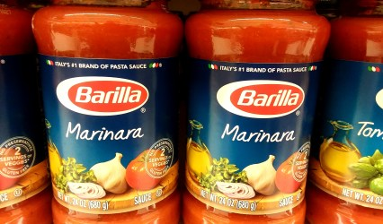 Barilla pasta sauce at Shoprite