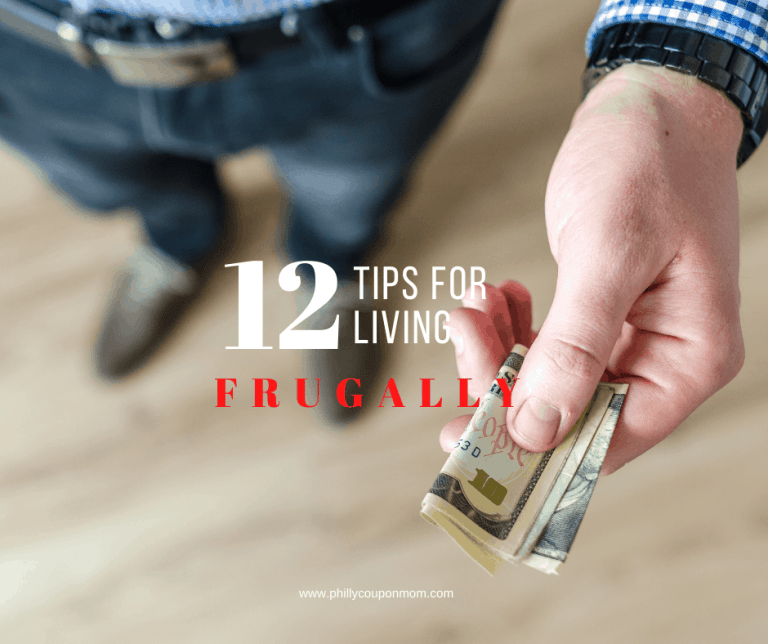 12 Tips for living frugally