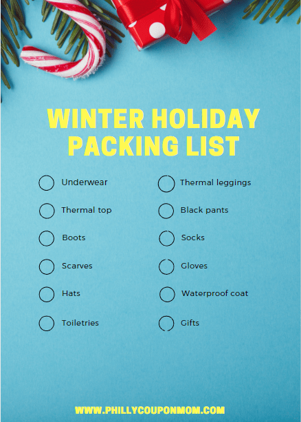 Winter Holiday Packing List Image