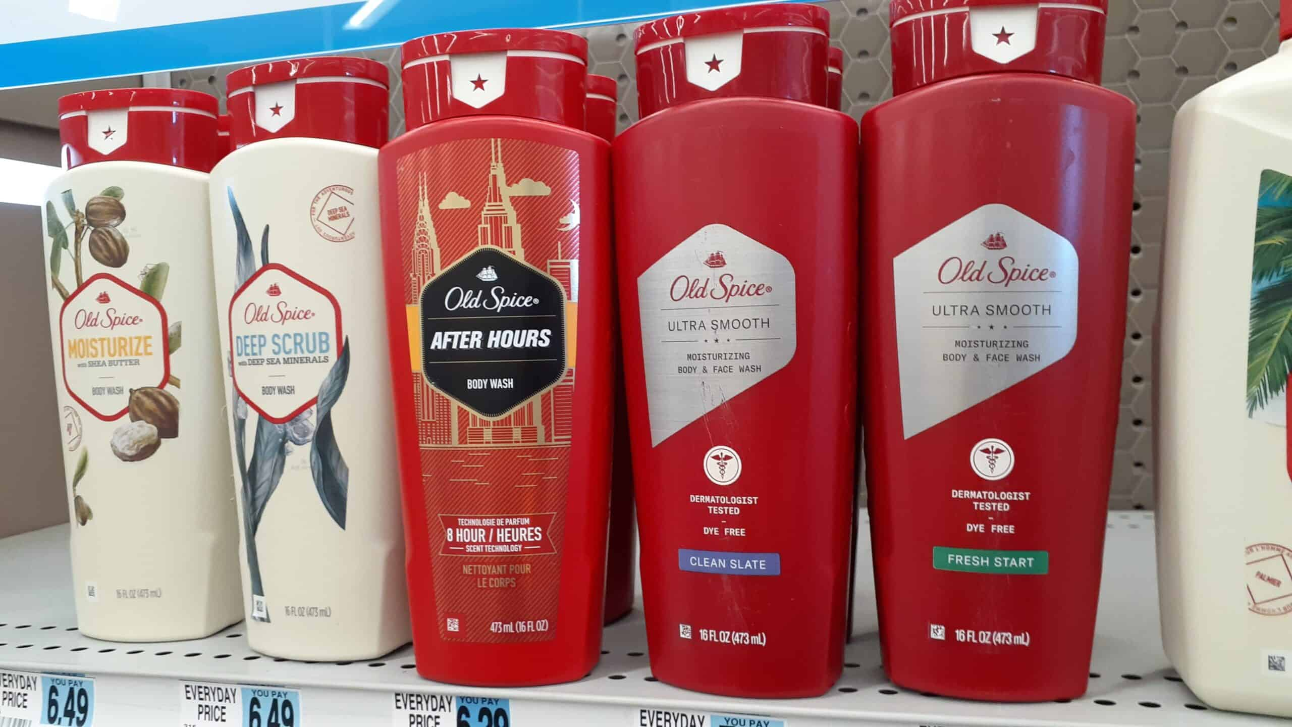 Old Spice Bodywash at Rite Aid