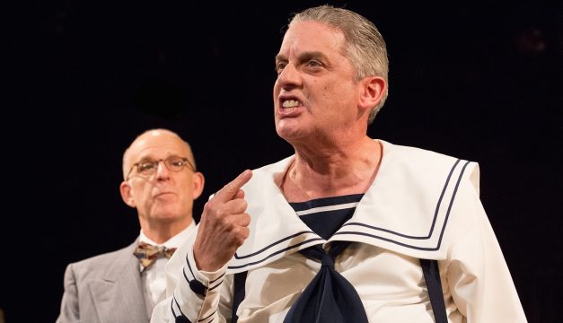 Carl N. Wallnau and Kenny Morris in Funnyman. (Photo by Mark Garvin.)