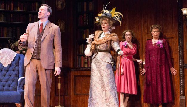 Ben Dibble, Susan Riley Stevens, Ellie Mooney, and Mary Martello in Harvey. (Photo by Mark Garvin)