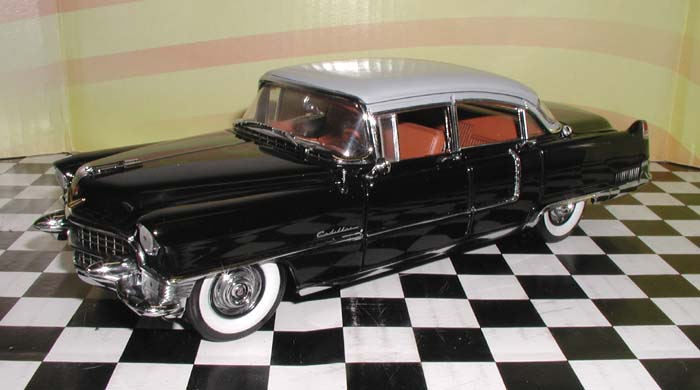 Franklin Mint 1955 Cadillac Fleetwood Black Rally Ltd Ed