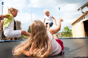 Trampoline Accident in Playground