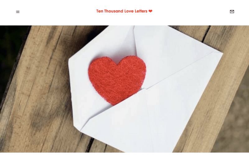 web design for 10,000 love letters