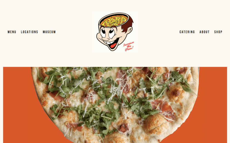 web design for pizza brain