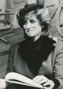 Princess Diana on a royal visit to Leicester