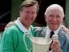 Manchester United legends Alex Ferguson and Matt Busby