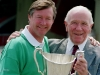 Manchester United legends Alex Ferguson and Matt Busby
