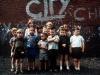 Children near Manchester City's Maine Road ground 1968