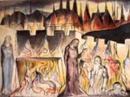 Dante converse avec Farinata degli Uberti qui était un chef des Gibelins alors que les ancètres de Dante  s'étaient ralliés aux Guelfes