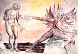 Ciampolo, le serviteur dévoyé des Grands, tourmenté par le Diable Moricaud