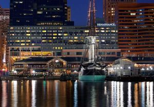 Photo of the Renaissance Harborplace Hotel in Baltimore, MD.