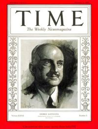 George Santayana in a drawing on the cover of Time Magazine.