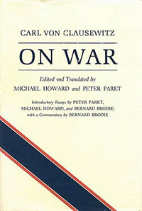 Cover of Carl Von Clausewitz's book, On War.