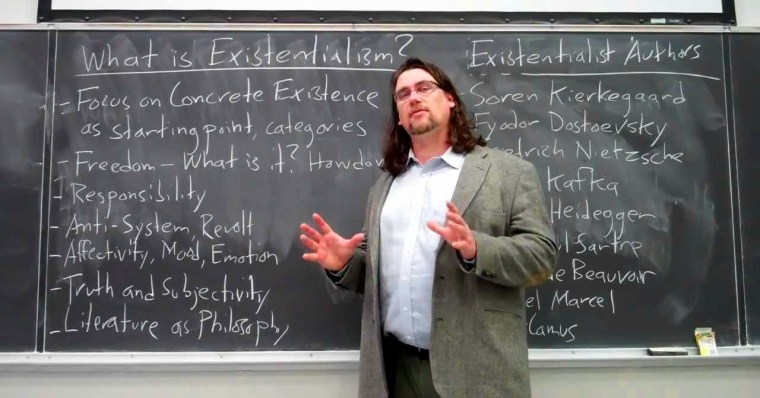 A screen capture from a video that Dr. Gregory B. Sadler recorded and posted to YouTube, work for which we have dubbed him the YouTube philosopher.