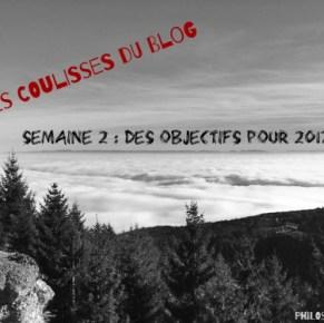 #CoulissesDuBlog n°2 : des objectifs pour 2017 ?