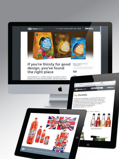 website design on ipad and desktop