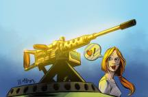 Sara's got a brand new gun by Adam Black