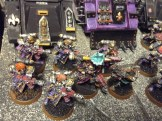 Flamer Dominion squad with sister superior and priest with eviscerator.