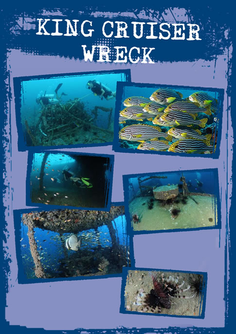 Dive site King Cruiser wreck near Koh Phi Phi Thailand