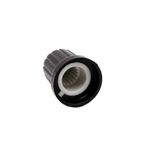 PHI1061656 – WH148 AG2 Potentiometer Black White Spline 15mm Plastic Knob 03