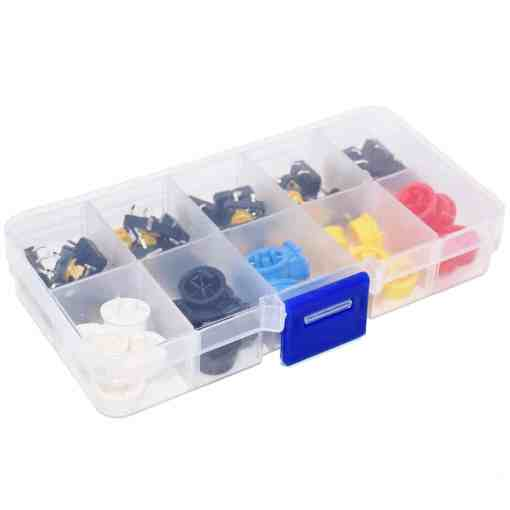 PHI1051861 – Tactile 4 Pin Micro Button Switch Kit with Caps – Pack of 25 02