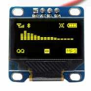 0.96 Inch Yellow OLED Serial Display Module – 128 x 64