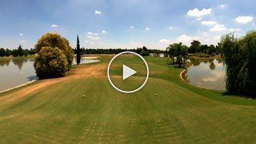 Recorrido virtual en cancha de golf