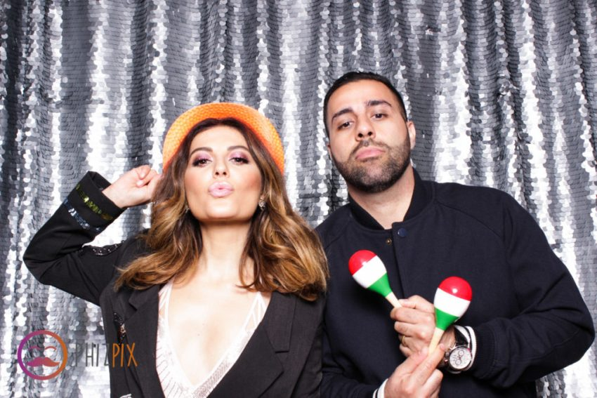 showing some attitude in the photo booth