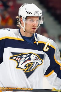 Timonen in 2007 as captain of the Nashville Predators.