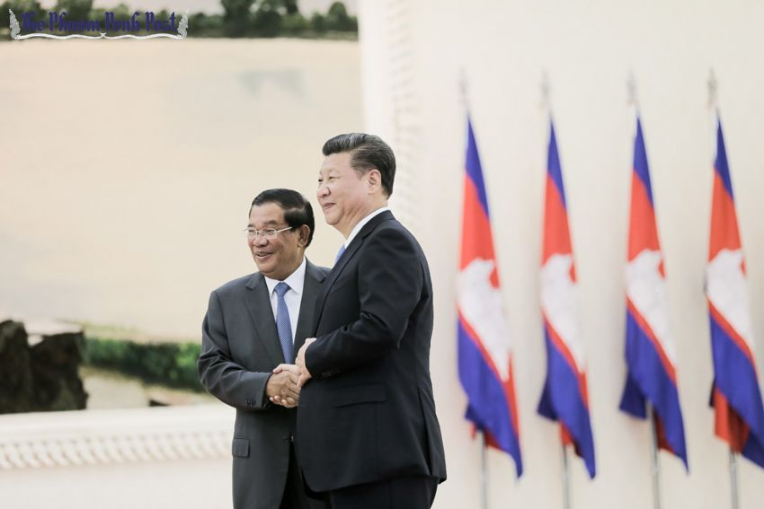 Image result for Xi and Hun Sen
