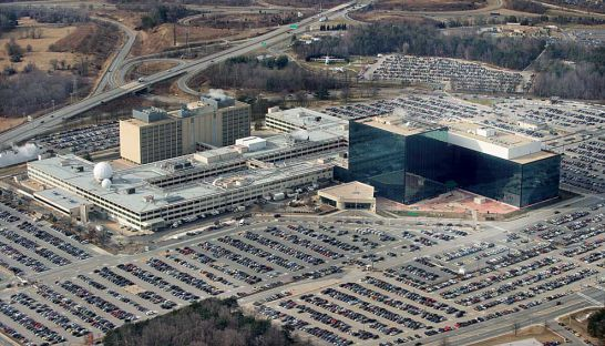 The National Security Agency headquarters at Fort Meade, Maryland, in 2010