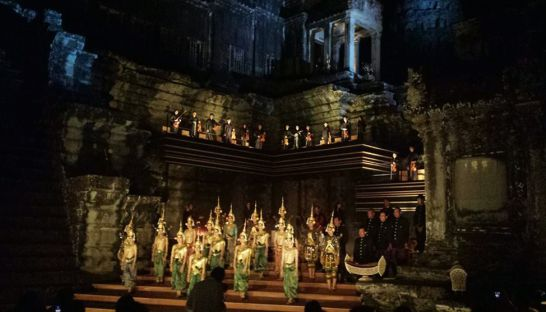 Performers from the Royal Cambodian Ballet