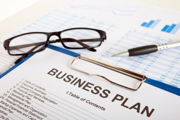 business plan on a clipboard