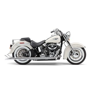 harley softail cobra bad hombre duals fishtail exhaust 12 17