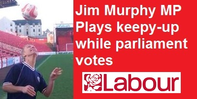 Jim Murphy plays keepy-up instead of voting