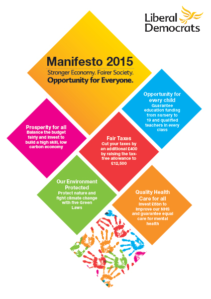 LibDem Manifesto 2015 front cover
